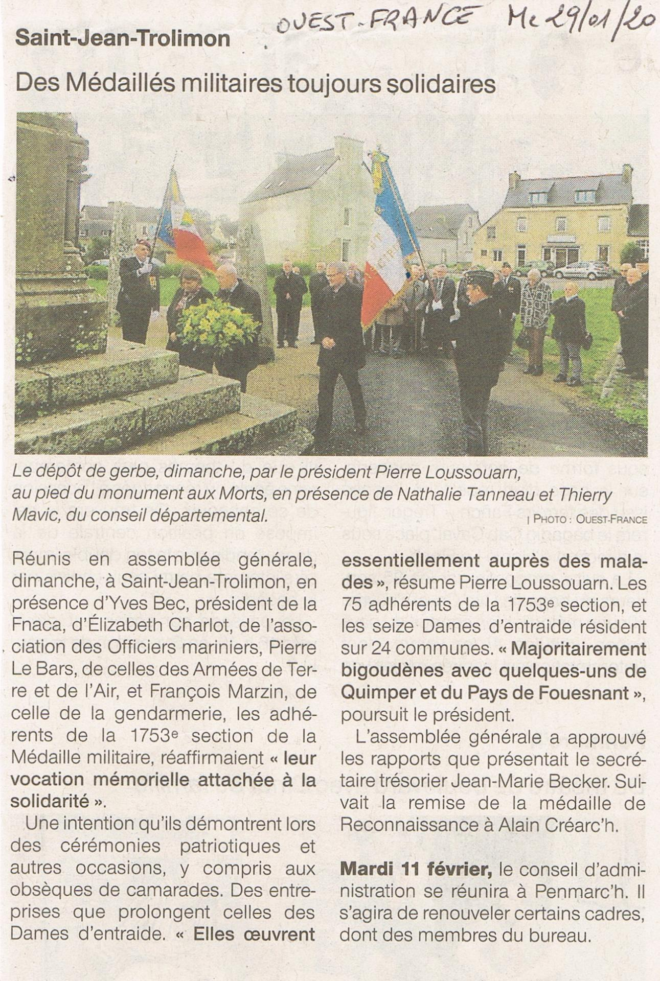 Ouest france 29 1 2020