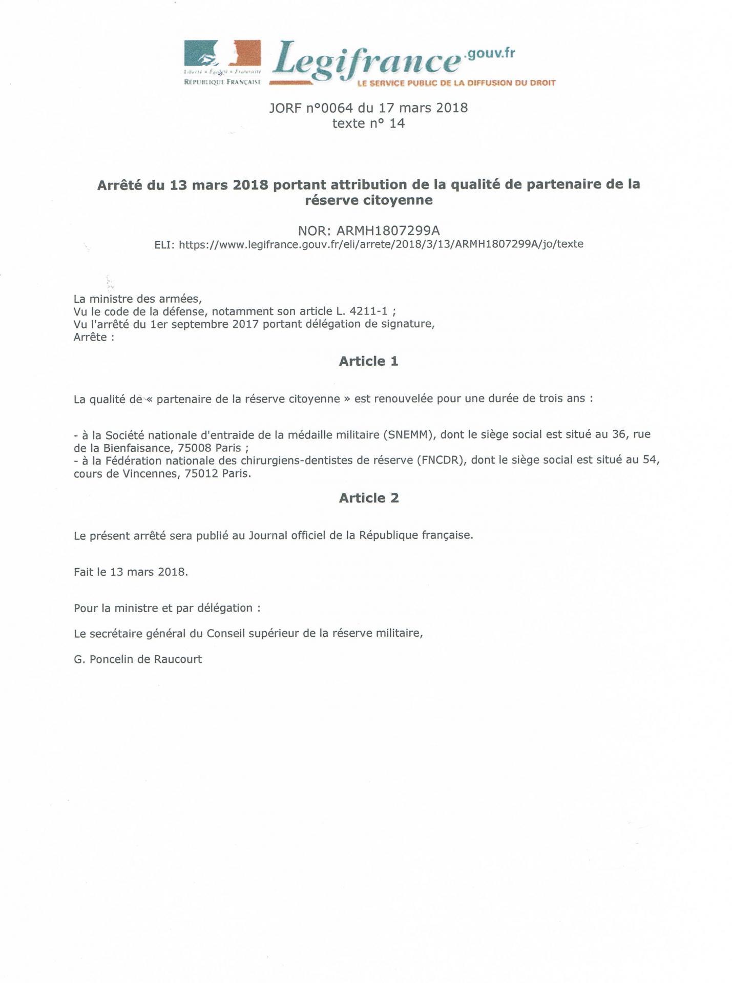 Reserve citoyenne 2018